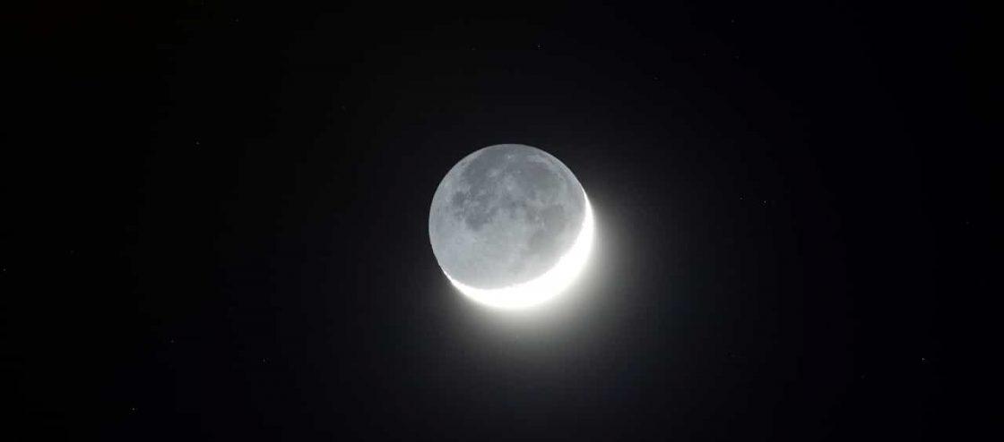 Earthshine-on-Waxing-Crescent-Moon